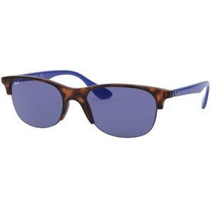 RayBan RB4419 Square Classic Sunglasses Rubber Havana Dark Violet